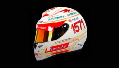 Casco Fernando Alonso GP India 2013