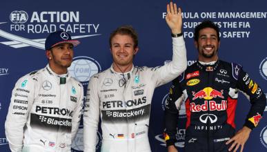 Clasificación GP EEUU 2015: Rosberg en pole bajo la lluvia
