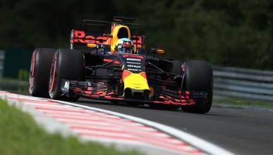 Daniel Ricciardo, durante los Libres 1 de Hungría