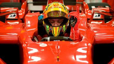 El día que Valentino Rossi probó un Ferrari de F1