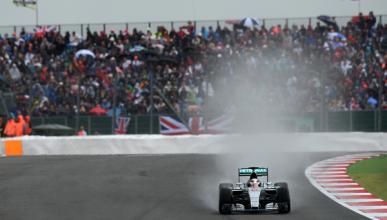 F1. GP Gran Bretaña 2015: Hamilton gana bajo la lluvia