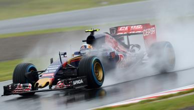 F1. Libres 1 GP Japón 2015: Sainz lidera bajo la lluvia