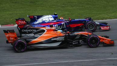 Fernando Alonso y Carlos Sainz en el GP de Canadá