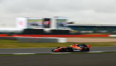 Fernando Alonso, durante la clasificación para el GP Gran Bretaña