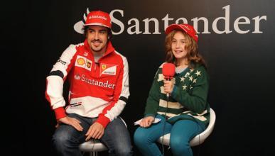 Fernando Alonso, entrevistado por una niña de nueve años