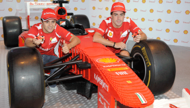 Fernando Alonso - Felipe Massa - Ferrari - Shell - Lego