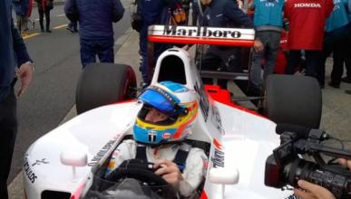 Fernando Alonso, protagonista en el día grande de Honda