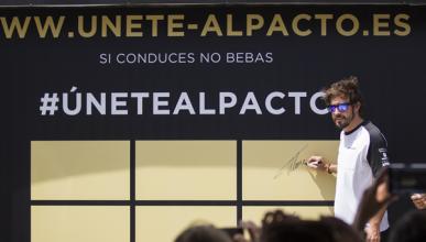 Fernando Alonso se une al pacto sin alcohol en Barcelona