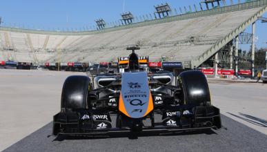 Force India, con el f1 de 2014 en los test de Barcelona