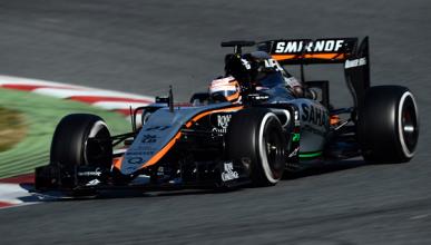 El Force India VJM08 de 2015 se estrena en Barcelona