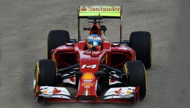 Fórmula 1: Libres 1 GP Singapur 2014. Alonso vuela