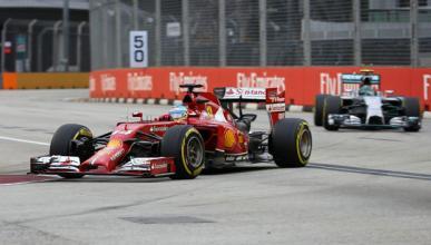 Fórmula 1: Libres 3 GP Singapur 2014. Alonso lidera