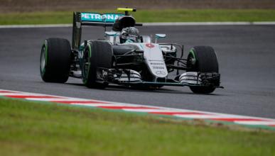 GP Japón 2016, Libres 3: Rosberg lidera con pista mojada