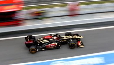 Grosjean Lotus tests F1 Montmelo