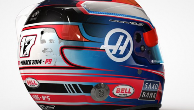 Grosjean recuerda a Bianchi con un casco especial en Mónaco