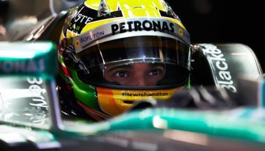 Hamilton mercedes tests f1 montmelo