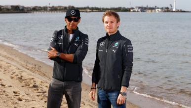 """Hamilton: """"El objetivo es estar delante, Rosberg y yo"""""""