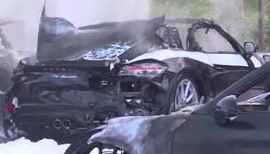 Porsche quemado