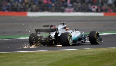 Lewis Hamilton, durante los Libres 3 en Silverstone