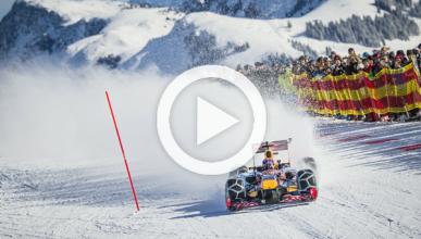 Max Verstappen se va a la nieve con un Red Bull