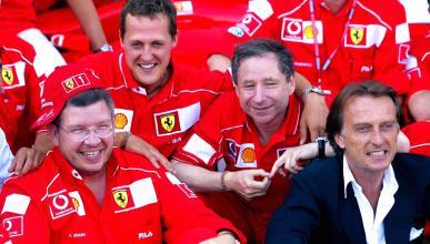 Michael Schumacher, Ross Brawn y Jean Todt
