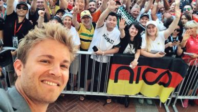 Nico Rosberg vuelve al paddock de la Fórmula 1 en Mónaco