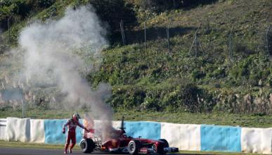 Pedro de la Rosa Ferrari fuego Jerez