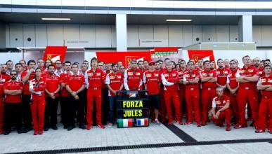 """Los pilotos de F1 envían """"fuerza"""" a Bianchi desde Sochi"""