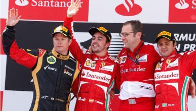Raikkonen - Alonso - Domenicali - Massa