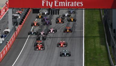 Salida del GP Austria 2017