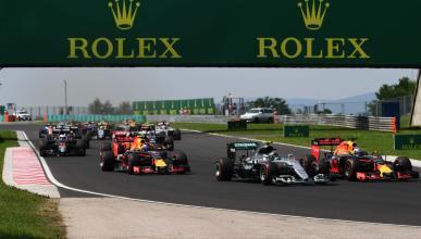 Salida del Gran Premio de Hungría 2016