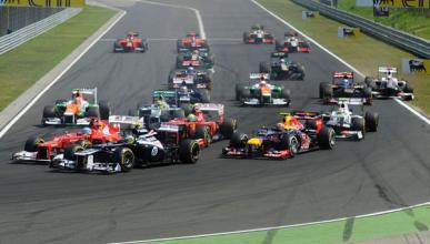 Salida Gran Premio Hungria