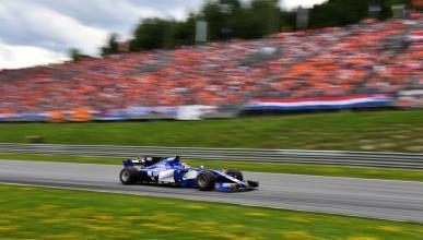 Sauber, durante el GP Austria 2017