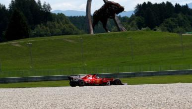 Sebastian Vettel, durante los entrenamientos GP Austria