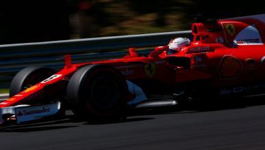 Sebastian Vettel, durante los Libres 3 del GP Hungría 2017