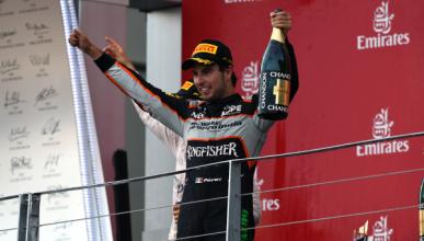 Sergio Pérez logra su séptimo podio en la F1 en Bakú