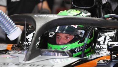 Sergio Pérez monta el Halo en su Force India
