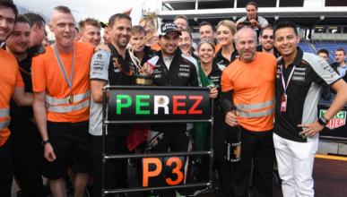 Sergio Pérez, 'Piloto del Día' del GP de Mónaco