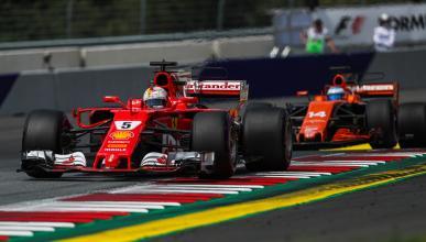 Vettel y Alonso en el GP Austria 2017