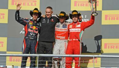 Vettel - Hamilton - Alonso - Estados Unidos 2012