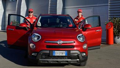 "Vettel y Räikkönen, se ""divierten"" con el FIAT 500X"