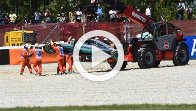 Vídeo: accidente de Rosberg y Hamilton en el GP España