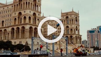 Vídeo: así se convierte Bakú en un circuito de F1