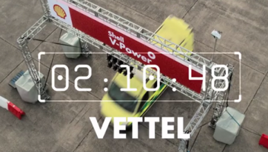Vídeo: así gana Vettel a un Ferrari con una ambulancia