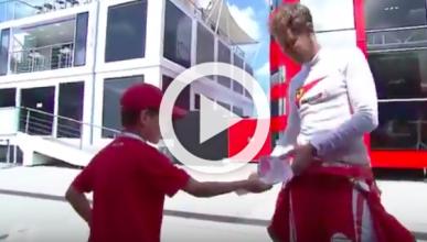 Vídeo: bonito gesto de Vettel con un niño en Hungría