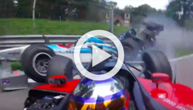 Vídeo: brutal accidente de un F1 y un Champcar en Monza