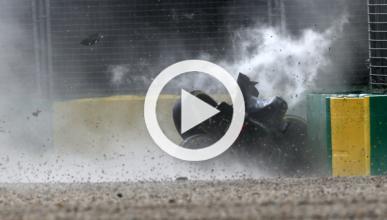 Vídeo: espectacular accidente de Alonso en Australia