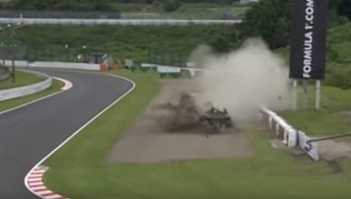 Video: fuerte accidente de Danill Kvyat en Japón