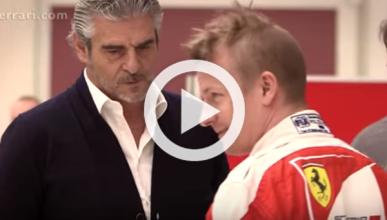 Vídeo: Räikkönen se hace el asiento para el Ferrari de 2016