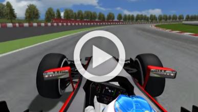 Vídeo: simulación del accidente de Fernando Alonso